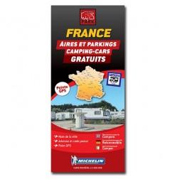 Carte FRANCE des Aires et Parkings Gratuits