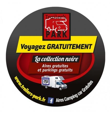 """Autocollant """"Voyagez Gratuitement avec Trailer's Park"""""""
