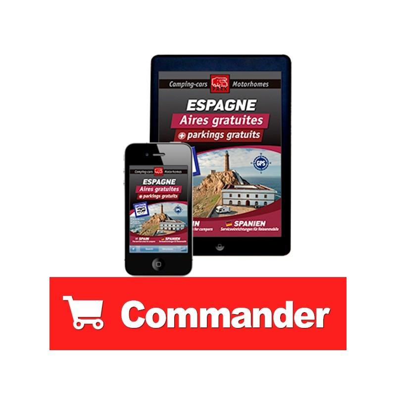 Guide NUMÉRIQUE ESPAGNE des Aires et Parkings Gratuits