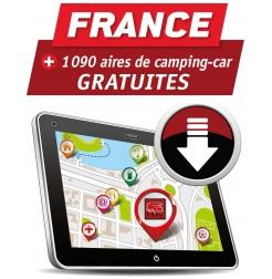GPS GARMIN - Téléchargement FRANCE des Aires de Camping-car Gratuites