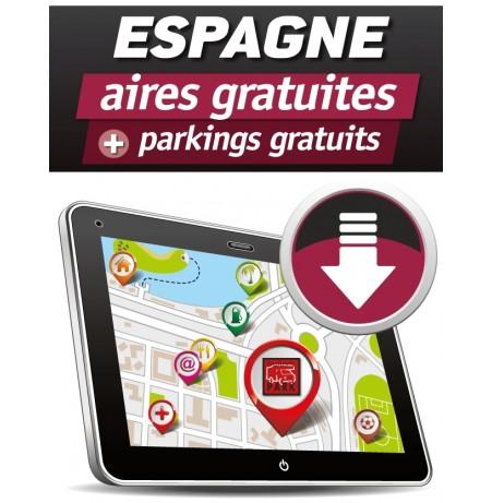 GPS GARMIN - Téléchargement ESPAGNE des Aires de Camping-car Gratuites