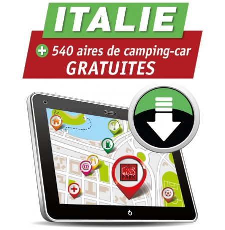 GPS GARMIN - Téléchargement ITALIE des Aires de Camping-car GRATUITES