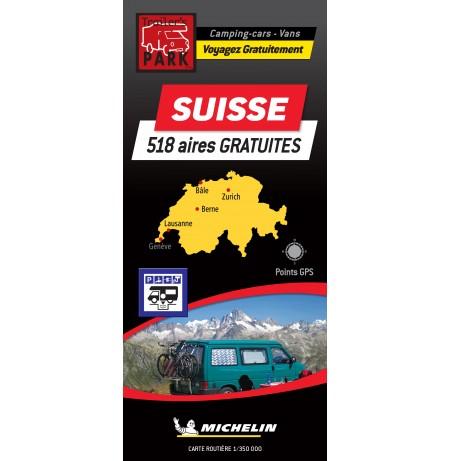 NOUVEAUTÉ ! Carte routière SUISSE - 518 Aires GRATUITES