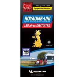 NOUVEAUTÉ ! Carte routière ROYAUME-UNI - 185 Aires GRATUITES