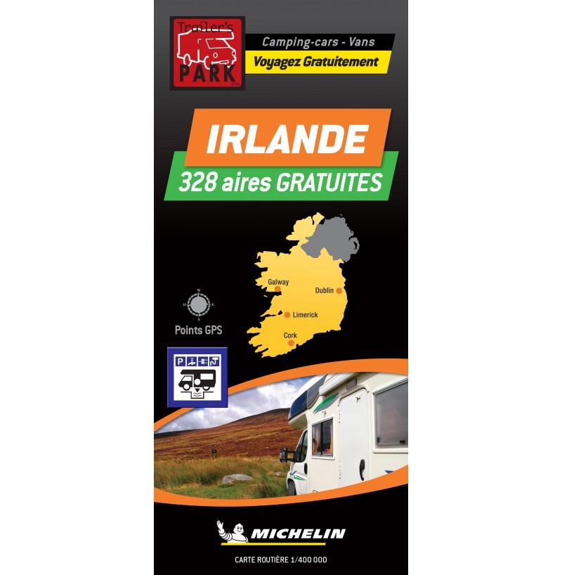 NOUVEAUTÉ ! Carte routière IRLANDE - 328 Aires GRATUITES