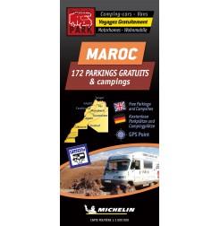 Carte routière MAROC des Parkings GRATUITS & Campings