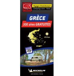 Carte routière GRÈCE des Aires de Camping-car GRATUITES