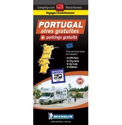Carte routière PORTUGAL des Aires de Camping-car GRATUITES