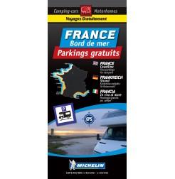 Carte routière FRANCE Bord de mer des Parkings GRATUITS