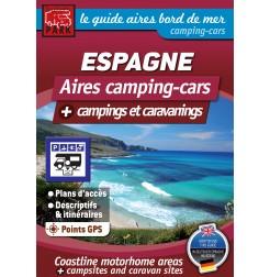 Guide ESPAGNE Bord de Mer - Aires camping-cars + Campings et Caravanings