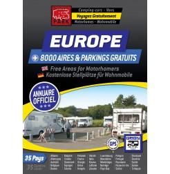 Annuaire NUMÉRIQUE EUROPE des Aires & Parkings GRATUITS