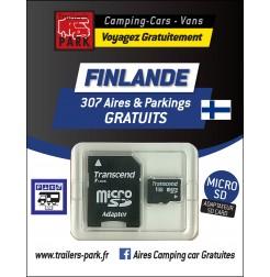 GPS GARMIN - SD Card FINLANDE - 307 Aires et Parkings GRATUITS