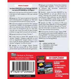 NOUVEAUTÉ ! GPS GARMIN - SD Card SUISSE - 518 Aires et Parkings GRATUITS