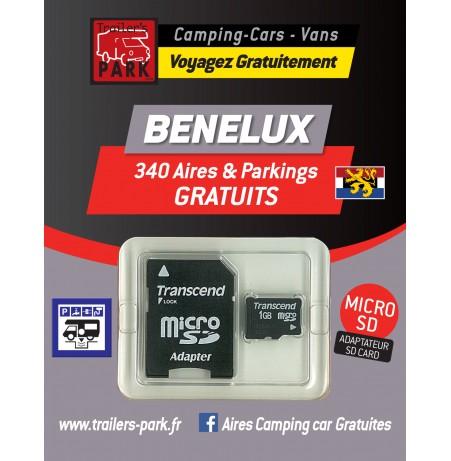 GPS GARMIN - SD Card BENELUX - 340 Aires et Parkings GRATUITS