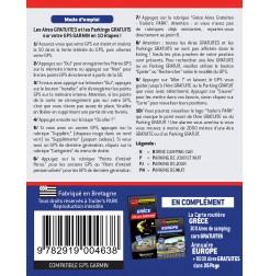 GPS GARMIN - SD Card GRÈCE - 300 Aires et Parkings GRATUITS