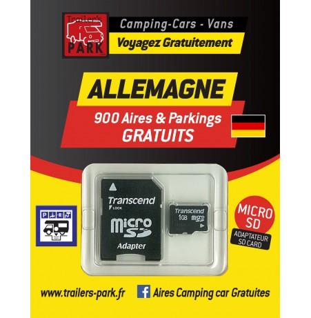 GPS GARMIN - SD Card ALLEMAGNE - 900 Aires et Parkings GRATUITS