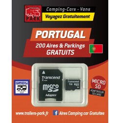GPS GARMIN - SD Card PORTUGAL - 200 Aires et Parkings GRATUITS
