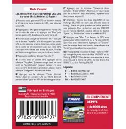 NOUVEAUTÉ ! GPS GARMIN - SD Card DANEMARK - 207 Aires et Parkings GRATUITS