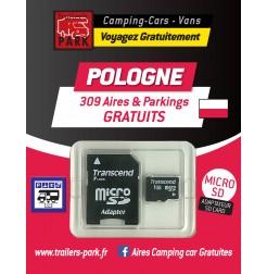 NOUVEAUTÉ ! GPS GARMIN - SD Card POLOGNE - 309 Aires et Parkings GRATUITS