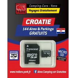 NOUVEAUTÉ ! GPS GARMIN - SD Card CROATIE - 144 Aires et Parkings GRATUITS