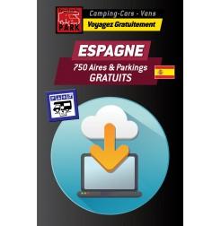 NOUVEAUTÉ ! GPS GARMIN - Téléchargement ESPAGNE - 750 Aires et Parkings GRATUITS