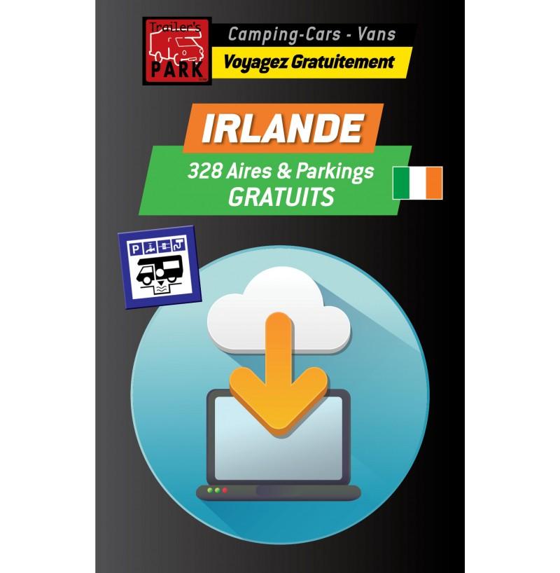 NOUVEAUTÉ ! GPS GARMIN - Téléchargement IRLANDE - 328 Aires et Parkings GRATUITS