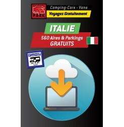 GPS GARMIN - Téléchargement ITALIE - 560 Aires et Parkings GRATUITS