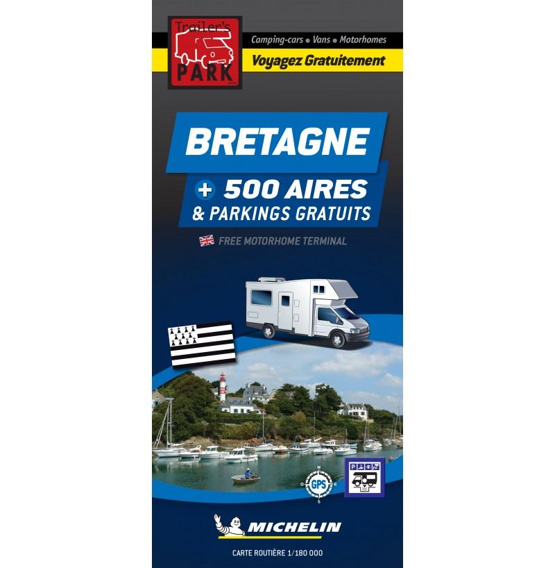 Nouveauté ! Carte routière BRETAGNE +500 Aires et Parkings GRATUITS