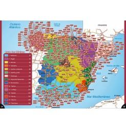 Guide ESPAGNE des Aires et Parkings Gratuits - Carte des régions