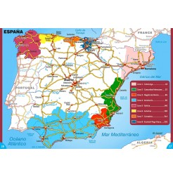 Guide ESPAGNE Bord de Mer - Carte des régions