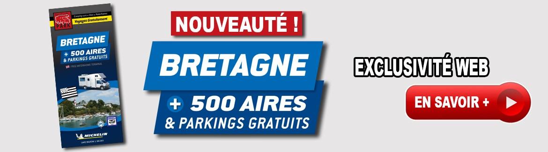 Nouveauté ! Carte Routière BRETAGNE +500 Aires Et Parkings GRATUITS -> En Savoir +