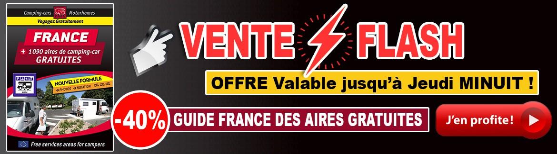 PROFITEZ DE -40% SUR LE GUIDE FRANCE DES AIRES GRATUITES JUSQU'À JEUDI MINUIT !!!