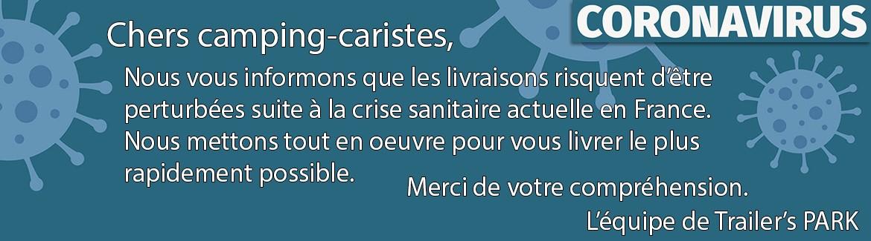COVID-19 : RISQUE DE PERTURBATION DES LIVRAISONS !